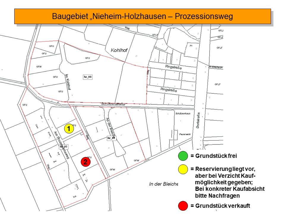 Verfügbare Grundstücke im Baugebiet Nieheim-Holzhausen - Prozessionsweg